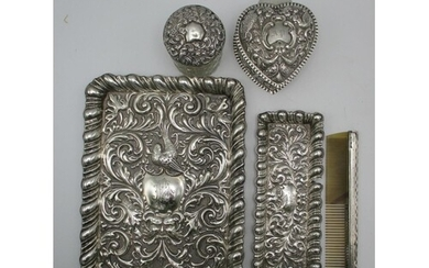 A Victorian silver tray by Henry Charles Freeman, London 190...