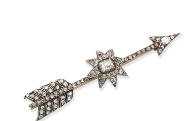 A diamond arrow brooch