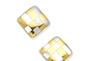 A pair of mother-of-pearl earrings