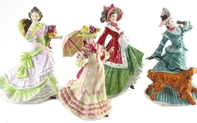 A set of four Royal Doulton porcelain figurines, emblematic ...
