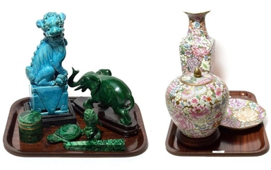 A turquoise glazed dog of Fo, a 20th century Chinese...