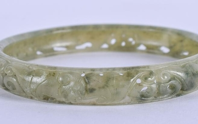 AN EARLY 20TH CENTURY CHINESE JADE BANGLE Late