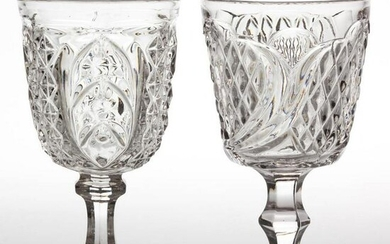 ASSORTED FLINT EAPG GOBLETS, LOT OF TWO
