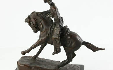 After Frederic Remington, Bronze Statue