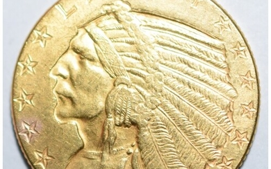 American $5 Dollar Gold Indian Head Gold Coin (8.6 Grams) -1...