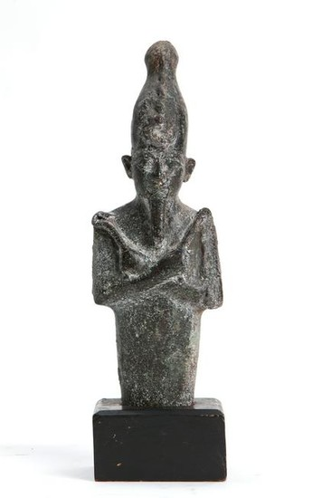 An Egyptian bronze fragment of Osiris