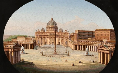An Italian micromosaic of St. Peters Square