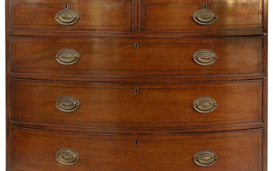 Antique Hepplewhite Bow-Front Chest of Drawers in