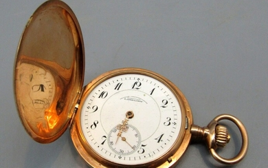 Antique Pocket Watch Made by A. Lange & Sohne, 14K Gold Box