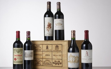 BORDEAUX PRIMEURS BOX of 6 bottles including :...