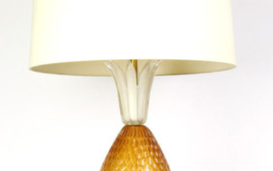 Barovier & Toso pineapple form Murano glass table lamp