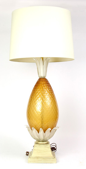 Toso Murano Glass Table Lamp