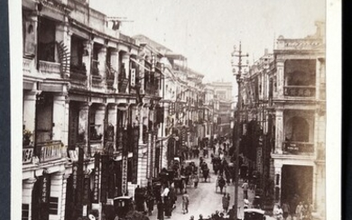 Vintage Photograph Hong Kong 1890-1900s a old photo of Queen's Road