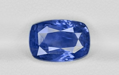 Blue Sapphire - 4.66 ct - Sri Lanka - Cushion - with