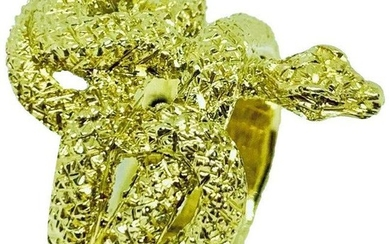 Buccellati 18k Yellow Gold Articulated Coiled Serpent