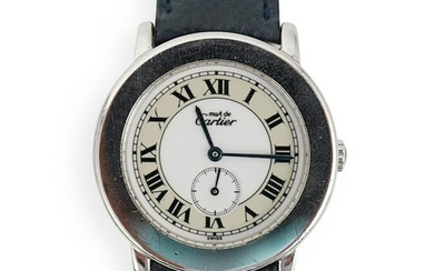 Cartier Must De Sterling Silver Watch