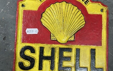 Cast Iron Sign - Shell Service