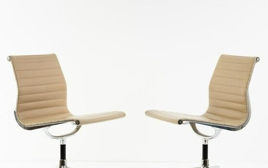 Charles Eames , Set of two 'Aluminum Group' chairs