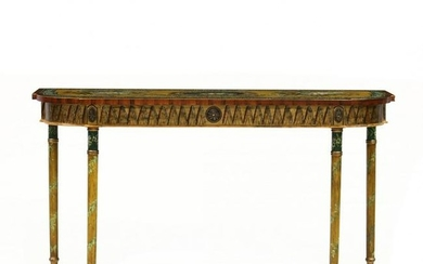 Chelsea House, Adam Style Painted Console Table