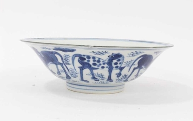 Chinese blue and white bowl, six-character Jiajing mark
