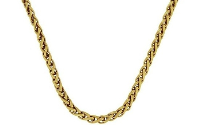 David Yurman 18k Yellow Gold Wheat Chain Necklace 16""