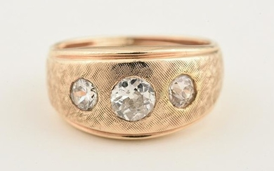 Diamond, 14k Yellow Gold Ring.
