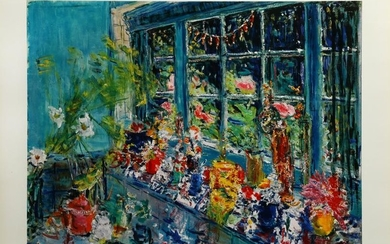 Dimitrie Berea, The Large Window With Flowers, Poster