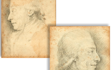 English School, pair of portrait drawings