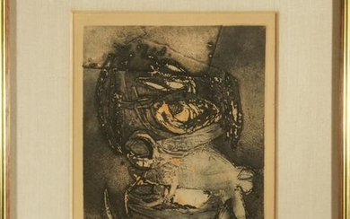 "Eugenio Tellez ""L'Homme a Cheval"" Etching on Paper"