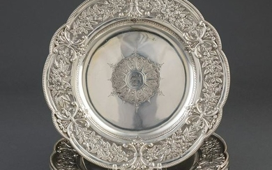 Fenton Brothers Sterling Silver Luncheon Plates
