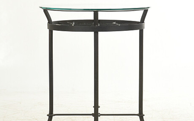 Forge table with glass top Bord smide med glasskiva