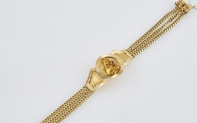 Gold and Stone Flexible Bracelet, 14K 25 dwt. all