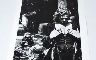 Helmut Newton Pere Lachaise, Tomb of Talma Signed