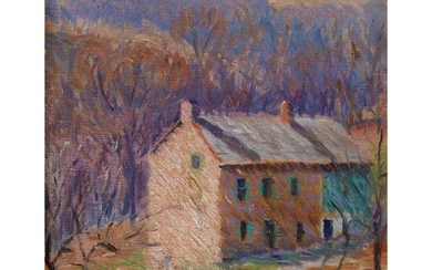 Kenneth R. Nunamaker (American, 1890–1957) House in Spring signed...