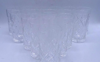 "LOT 17 WATERFORD STYLE WATER GLASSES 5.5""H"
