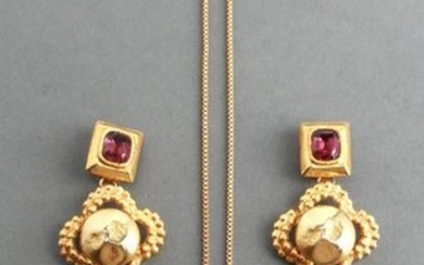 Ladies' Gold-Tone Costume Necklace & Earrings
