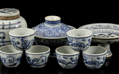 Lot with 9 Oriental objects