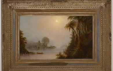 Louis Mignot, attributed - Lake Scene Painting