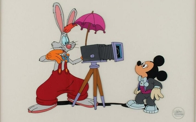 Mickey Mouse and Roger Rabbit production cel from