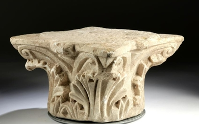Ornate / Large Roman Marble Capital, Acanthus Leaves