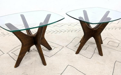 Pair ADRIAN PEARSALL Side End Tables. American Modern