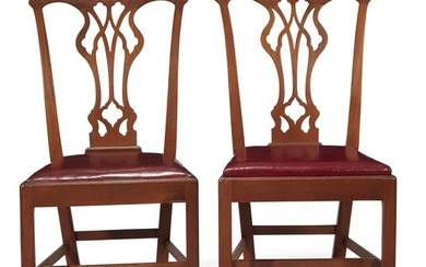 Pair of Chippendale walnut side chairs Philadelphia, PA, late...