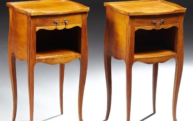 Pair of French Louis XV Style Carved Cherry Bombe