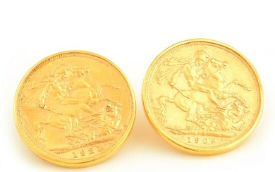 Pair of Gold Coin, 18k Yellow Gold Earrings.