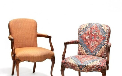 Pair of Vintage French Provincial Style Fauteuil