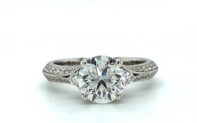 Platinum Ring with GIA certified 2.01ct Diamond (RB G/VVS2),...