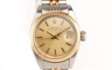 ROLEX, Oyster Perpetual Date ladies' wristwatch in stainless...