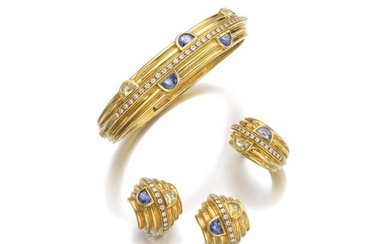 SAPPHIRE AND YELLOW SAPPHIRE PARURE