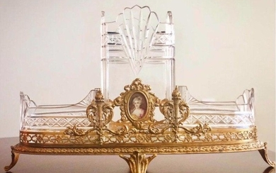 SUPERB ORMOLU MOUNTED BACCARAT GLASS CENTERPIECE