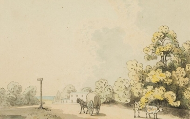 Samuel Howitt, British 1756-1822- Countryside scenes with horse and carts;...
